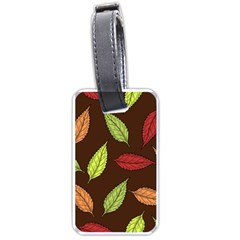 Autumn Leaves Pattern Luggage Tags (one Side)  by Mariart