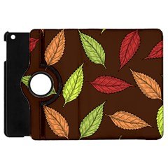 Autumn Leaves Pattern Apple Ipad Mini Flip 360 Case by Mariart