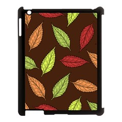 Autumn Leaves Pattern Apple Ipad 3/4 Case (black) by Mariart