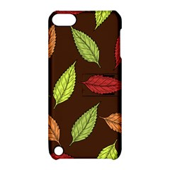 Autumn Leaves Pattern Apple Ipod Touch 5 Hardshell Case With Stand by Mariart