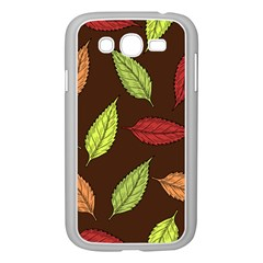 Autumn Leaves Pattern Samsung Galaxy Grand Duos I9082 Case (white) by Mariart