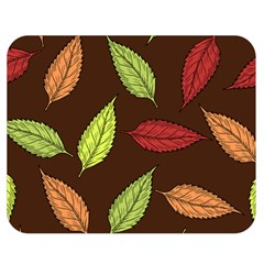 Autumn Leaves Pattern Double Sided Flano Blanket (medium)  by Mariart