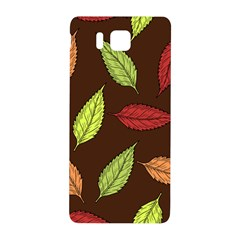 Autumn Leaves Pattern Samsung Galaxy Alpha Hardshell Back Case by Mariart