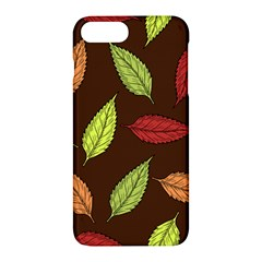 Autumn Leaves Pattern Apple Iphone 7 Plus Hardshell Case by Mariart