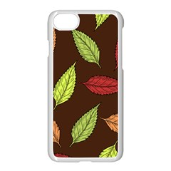 Autumn Leaves Pattern Apple Iphone 7 Seamless Case (white) by Mariart