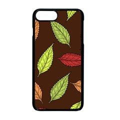 Autumn Leaves Pattern Apple Iphone 8 Plus Seamless Case (black) by Mariart