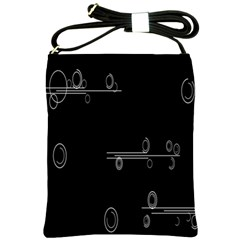 Feedback Loops Motion Graphics Piece Shoulder Sling Bags by Mariart