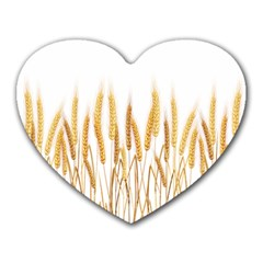 Wheat Plants Heart Mousepads by Mariart