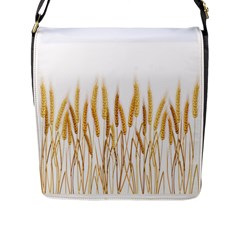 Wheat Plants Flap Messenger Bag (l)  by Mariart