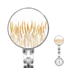Wheat Plants Stainless Steel Nurses Watch by Mariart