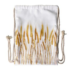 Wheat Plants Drawstring Bag (large) by Mariart