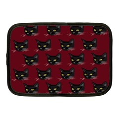 Face Cat Animals Red Netbook Case (medium)  by Mariart