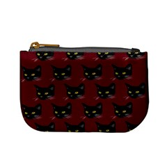 Face Cat Animals Red Mini Coin Purses by Mariart