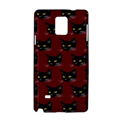 Face Cat Animals Red Samsung Galaxy Note 4 Hardshell Case by Mariart