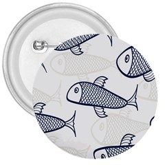 Fish Graphic Flooring Blue Seaworld Swim Water 3  Buttons by Mariart