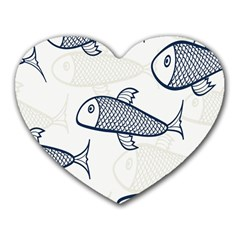 Fish Graphic Flooring Blue Seaworld Swim Water Heart Mousepads by Mariart