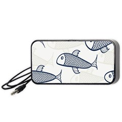 Fish Graphic Flooring Blue Seaworld Swim Water Portable Speaker by Mariart