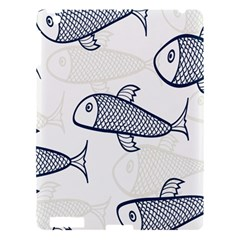 Fish Graphic Flooring Blue Seaworld Swim Water Apple Ipad 3/4 Hardshell Case by Mariart