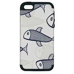 Fish Graphic Flooring Blue Seaworld Swim Water Apple Iphone 5 Hardshell Case (pc+silicone) by Mariart