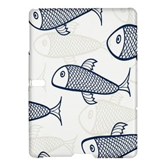 Fish Graphic Flooring Blue Seaworld Swim Water Samsung Galaxy Tab S (10 5 ) Hardshell Case  by Mariart