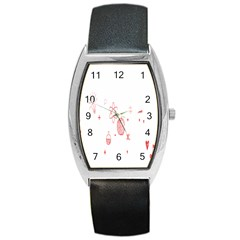 Formulas Laboratories Formulas Mathematics Chemistry Barrel Style Metal Watch by Mariart