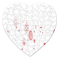 Formulas Laboratories Formulas Mathematics Chemistry Jigsaw Puzzle (heart) by Mariart