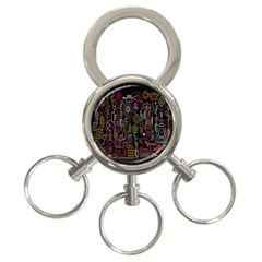 Features Illustration 3 Ring Key Chains by Mariart