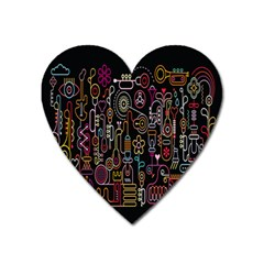 Features Illustration Heart Magnet by Mariart