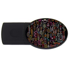 Features Illustration Usb Flash Drive Oval (2 Gb) by Mariart