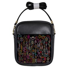 Features Illustration Girls Sling Bags by Mariart