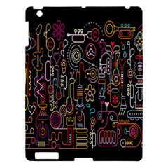 Features Illustration Apple Ipad 3/4 Hardshell Case by Mariart