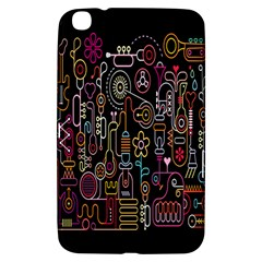 Features Illustration Samsung Galaxy Tab 3 (8 ) T3100 Hardshell Case  by Mariart