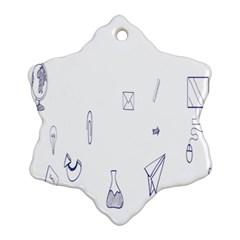 Formulas Laboratories Formulas Mathematics Chemistry Blue Ornament (snowflake) by Mariart
