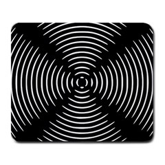 Gold Wave Seamless Pattern Black Hole Large Mousepads by Mariart
