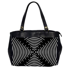 Gold Wave Seamless Pattern Black Hole Office Handbags (2 Sides)  by Mariart