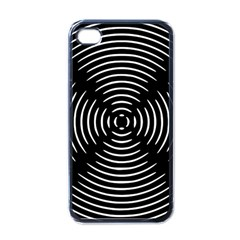 Gold Wave Seamless Pattern Black Hole Apple Iphone 4 Case (black)