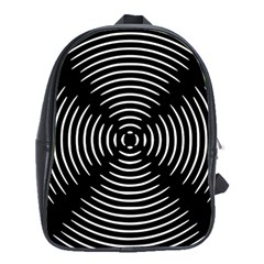 Gold Wave Seamless Pattern Black Hole School Bag (xl) by Mariart