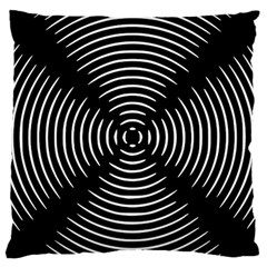 Gold Wave Seamless Pattern Black Hole Large Flano Cushion Case (one Side) by Mariart