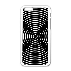 Gold Wave Seamless Pattern Black Hole Apple Iphone 6/6s White Enamel Case by Mariart