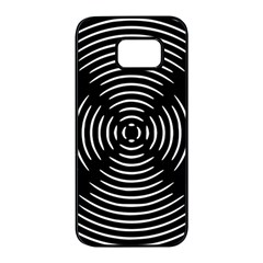Gold Wave Seamless Pattern Black Hole Samsung Galaxy S7 Edge Black Seamless Case by Mariart