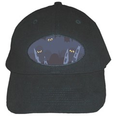 Ghost Halloween Eye Night Sinister Black Cap by Mariart