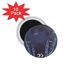 Ghost Halloween Eye Night Sinister 1 75  Magnets (10 Pack)  by Mariart