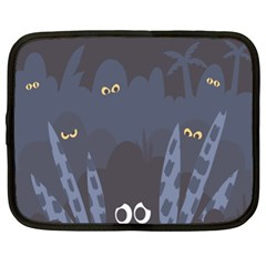 Ghost Halloween Eye Night Sinister Netbook Case (xl)  by Mariart
