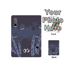 Ghost Halloween Eye Night Sinister Playing Cards 54 (mini)  by Mariart