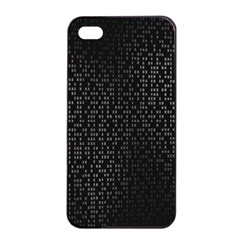 Gray Plaid Black Apple Iphone 4/4s Seamless Case (black) by Mariart