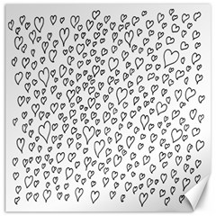 Heart Doddle Canvas 12  X 12   by Mariart