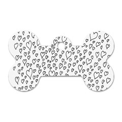 Heart Doddle Dog Tag Bone (two Sides) by Mariart