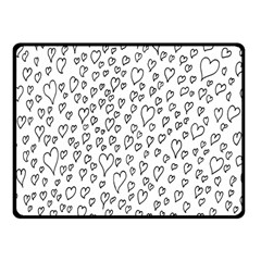 Heart Doddle Fleece Blanket (small) by Mariart
