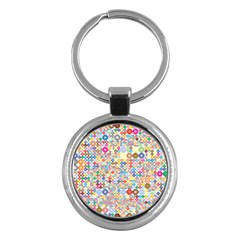 Circle Rainbow Polka Dots Key Chains (round)  by Mariart