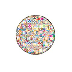 Circle Rainbow Polka Dots Hat Clip Ball Marker by Mariart